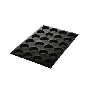 SQ077 DISCO Stampo in silicone 24 impronte Ø7,5cm Silikomart