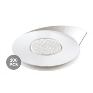 Set 100 Vassoi monoporzione rotondi Ø86mm in plastica bianca Silikomart