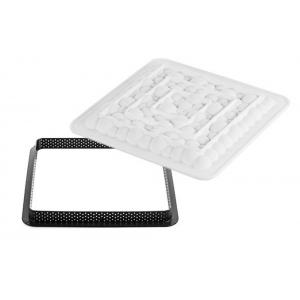 KIT TARTE RING BUBBLE quadrato 200x200mm Stampo in silicone + cutter Silikomart