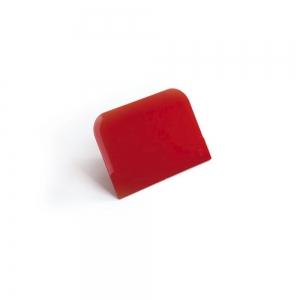 Spatola tarocco 14,8x9,9cm in plastica rossa Pavoni