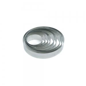 Fascia inox rotonda H3cm Pavoni