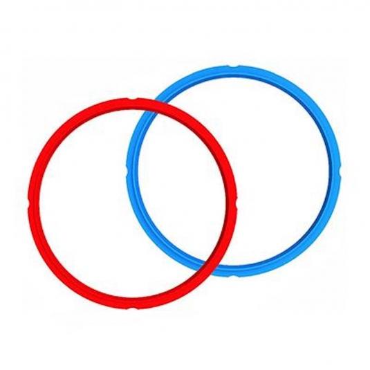 Guarnizione di sicurezza in silicone - set 2 pz (rosso e blu) 5,7 litri Instant Pot
