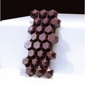 HEXAGON MA2015 Stampo tavolette di cioccolato in policarbonato 3 impronte 14x6,8cm H1,3cm Evolution Martellato