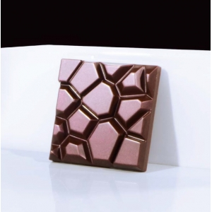 STONE MA2013 Stampo tavolette di cioccolato in policarbonato 6 impronte 7x7cm H1,1cm Martellato