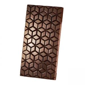 KUBE MA2016 Stampo tavolette di cioccolato in policarbonato 3 impronte 13,7x7,2cm H1cm Martellato