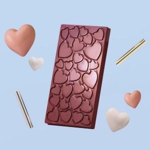 LOVE MA2017 Stampo tavolette di cioccolato in policarbonato 3 impronte 13,7x7,2cm H1cm Martellato