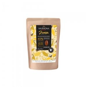 Cioccolato JIVARA 40% Sacchetto da 250gr Valrhona