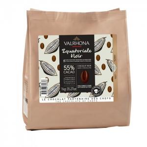Cioccolato EQUATORIALE NOIR 55% Sacco da 1Kg Valrhona