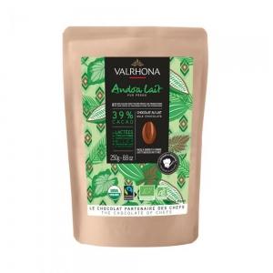 Cioccolato ANDOA LATTE 39% Sacchetto da 250gr Valrhona