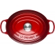 Cocotte ovale 31cm in ghisa vetrificata c/coperchio rosso Evolution Le Creuset