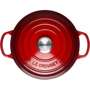 Cocotte rotonda Ø18cm in ghisa vetrificata c/coperchio rosso Evolution Le Creuset
