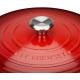 Cocotte rotonda Ø26cm in ghisa vetrificata c/coperchio rosso Evolution Le Creuset