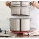 Casseruola alta Ø26cm a 3 strati alluminio + acciaio inox c/coperchio e scolapasta 3-Ply Le Creuset