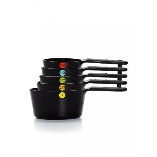 Set di 6 misurini in plastica nera Oxo Good Grips