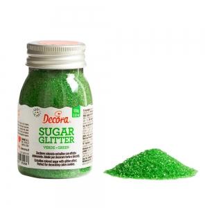 Zucchero glitterato rosso 100 gr Decora