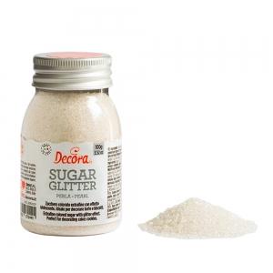 Zucchero glitterato verde 100 gr Decora