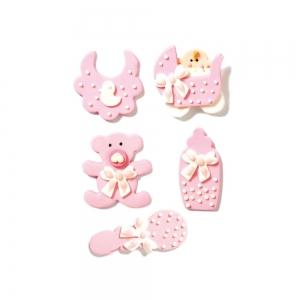 Decorazioni in zucchero Baby nursery cielo - conf 5 pezzi Decora