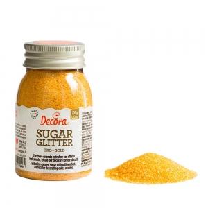 Zucchero glitterato oro 100 gr Decora
