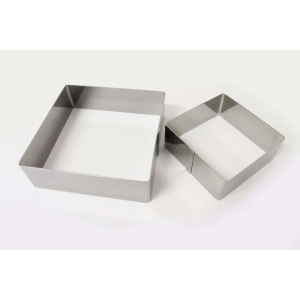 Cornice inox quadrato H4,5cm Calder