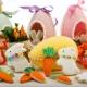 Tagliabiscotti CONIGLIO e CAROTA in plastica - set 2 pz Decora