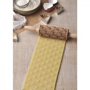 Mattarello Junior in legno decoro ARTDECO Folkroll