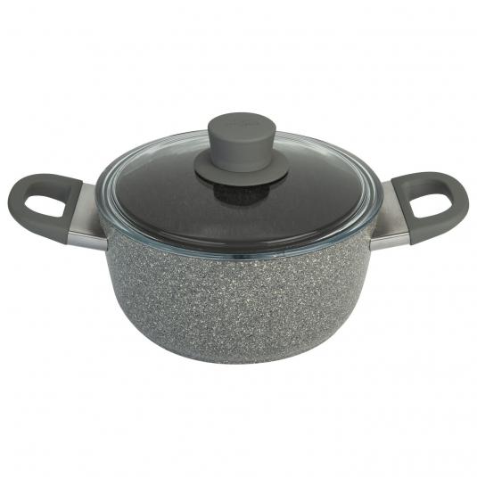 Casseruola Ø20cm MURANO GRANITIUM in alluminio antiaderente c/coperchio Ballarini