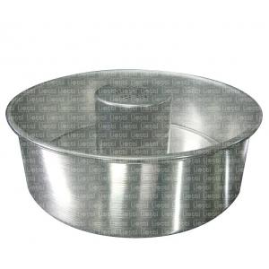 Tortiera a bordo dritto con cono Ø25cmH7,5cm in alluminio Liotti