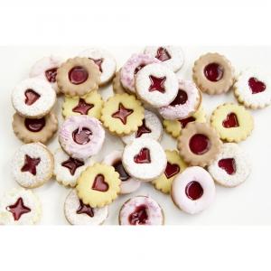 Tagliabiscotti per biscotti Linzer in plastica Stadter