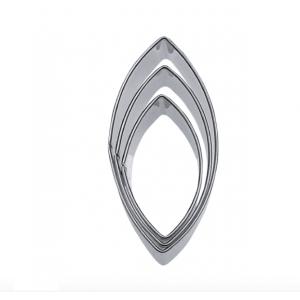 Tagliabiscotti OVALE in acciaio inox - Conf da 3 pz Stadter