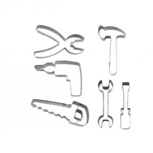 Tagliabiscotti ATREZZI CARPENTERIA in acciaio inox - set 6 pz Stadter
