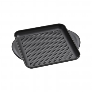 Piastra grill quadrata 24x24cm in ghisa vetrificata nero matt Tradition Le Creuset