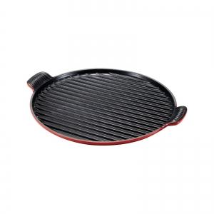 Piastra grill rotonda XL Ø32cm in ghisa vetrificata rosso ciliegia Tradition Le Creuset