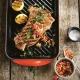 Piastra grill rettangolare XL 47x25cm in ghisa vetrificata rosso ciliegia Tradition Le Creuset