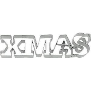 Tagliabiscotti scritta XMAS in acciaio inox Birkmann