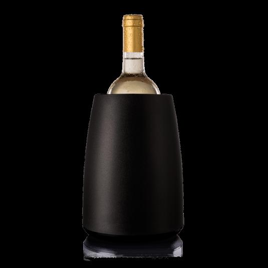 Glacette refrigerante per vino nera Vacu Vin