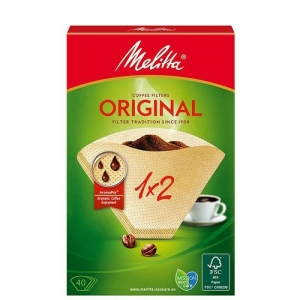 Confezione di 40 filtri 1x2 in carta per caffè lungo Melitta