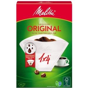 Confezione di 40 filtri 1x4 in carta per caffè lungo Melitta