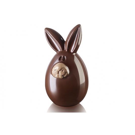 LUCKY BUNNY Stampo termoformato per cioccolato 28,5x15cm H5,8cm Silikomart