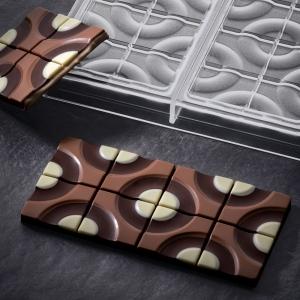 TARGET PC5008 BY VALLEE Stampo in policarbonato tavoletta di cioccolato 3x100gr Pavoni