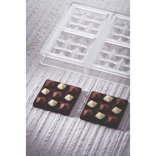 MINI MOULIN PC5014 BY VALLEE Stampo in policarbonato tavoletta di cioccolato 6x50gr Pavoni