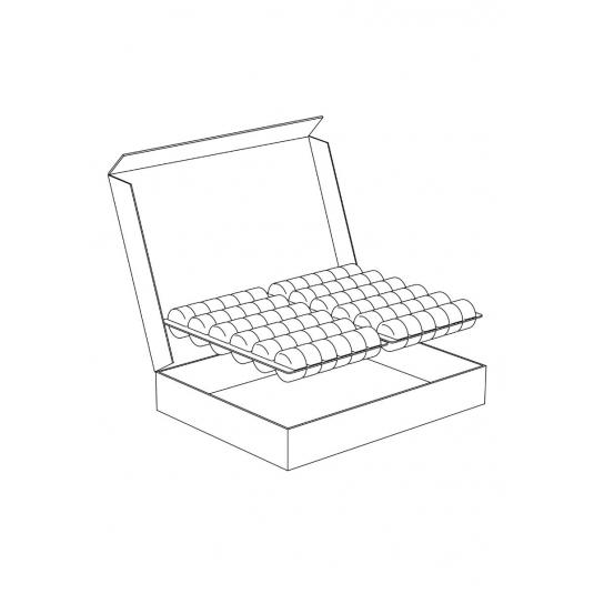 SMC72 Scatola box di cartone porta macaron 20 posti Pavoni