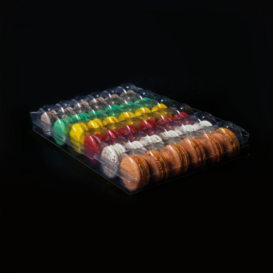 MACARON DISPLAY MC36 Box in plastica porta macaron 36 posti Pavoni