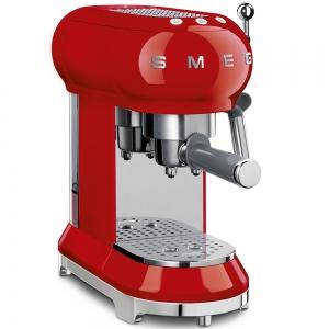 Macchina da caffè espresso rosso 1350W ECF01CREU 50's Style Smeg