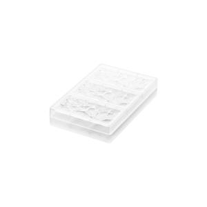 CH008 GOCCIA T Stampo per tavoletta di cioccolato in tritan 3 impronte 15x7cm H0,8cm Silikomart