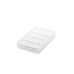 CH005 RIGA T Stampo per tavoletta di cioccolato in tritan 4 impronte 15x5,5cm H0,9cm Silikomart
