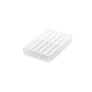 CH003 ONDA B Stampo per snack di cioccolato in tritan 10 impronte 12x2cm H1,5cm Silikomart