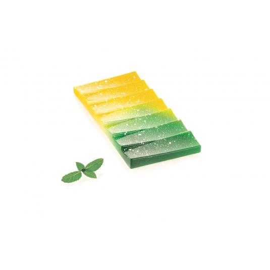 CH002 ONDA T Stampo per tavolette di cioccolato in tritan 3 impronte 15x7cm H1,1cm Silikomart