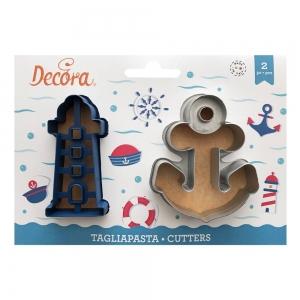 Tagliabiscotti MARE in plastica - set 2 pz Decora