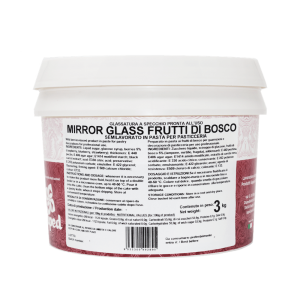 MIRROR GLASS Glassa a specchio ai frutti di bosco 3kg Laped