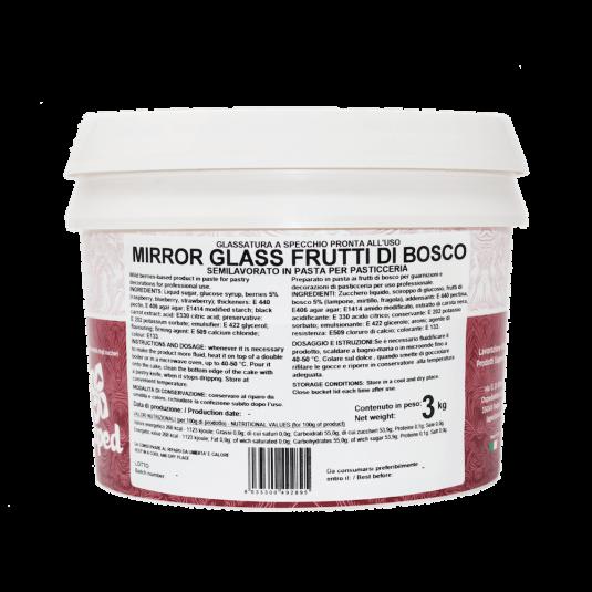 MIRROR GLASS Glassa a specchio ai frutti di bosco 3kg Laped